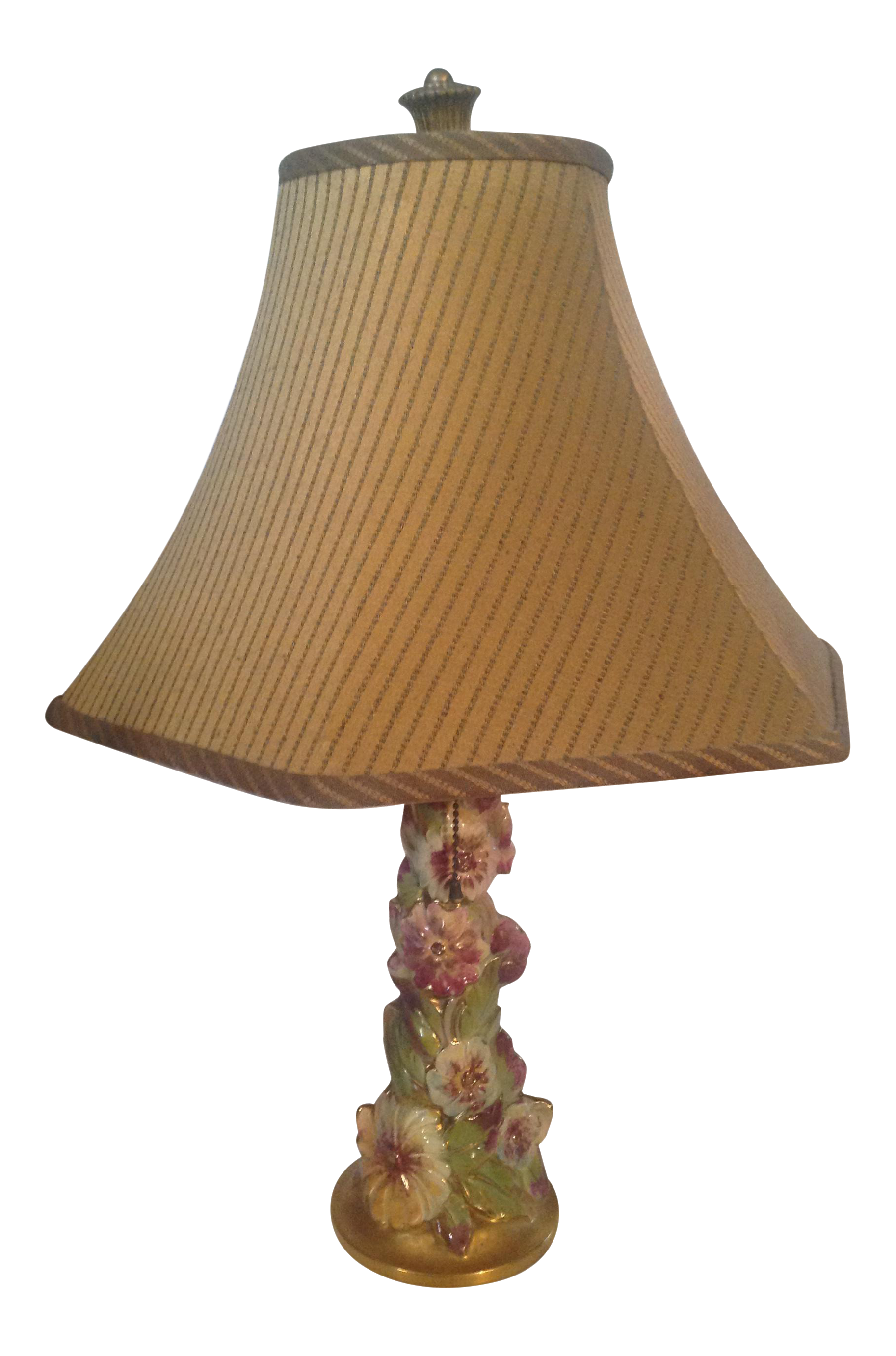 VintAge Pansy Pottery Table Lamp
