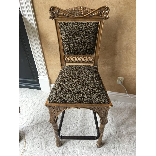 Maitland Smith Cheetah Print Bar Stool - Image 2 of 6