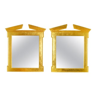 Pair of Modern Regency Style Giltwood Mirrors For Sale