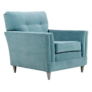 Aqua Blue Seafoam Robin's Egg Blue Mid Century Modern Arm Chair