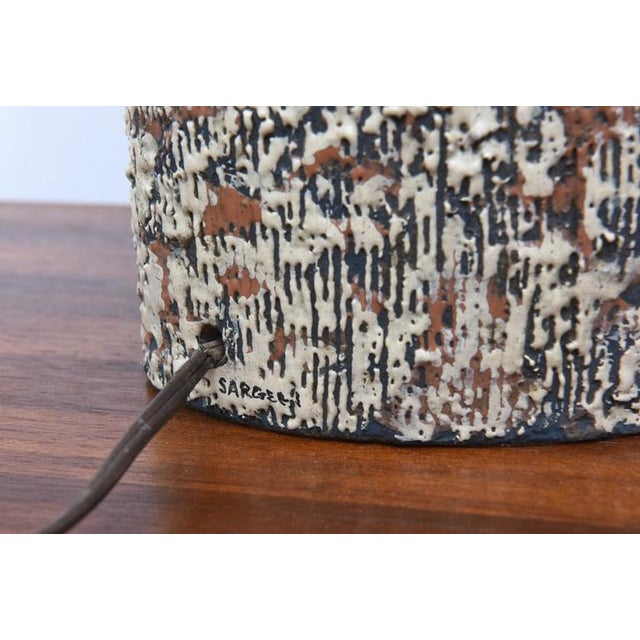 Beautiful Sargeri Ceramic Mid-Century Modern Lamp, 1950s, Usa For Sale - Image 9 of 9