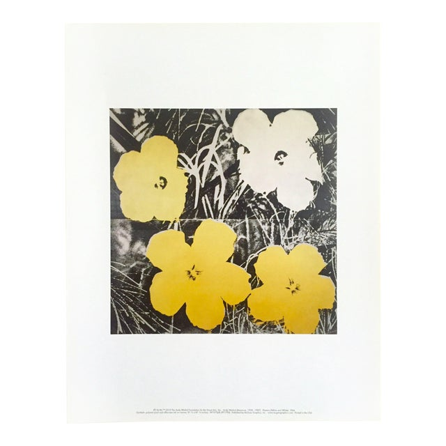"Andy Warhol Foundation Collector's Pop Art Lithograph Print ""Flowers"" 1966 For Sale"