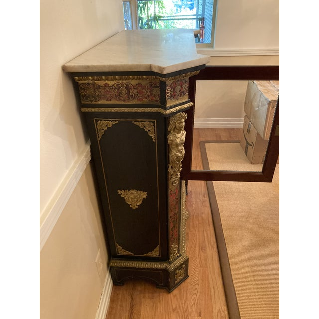 French French Boulle Style Display Cabinet For Sale - Image 3 of 11