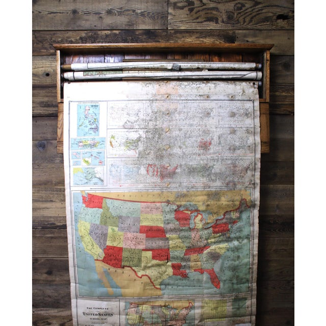 Paper Turn of the Century F. C. Hardacre Map Cabinet With Early 1900s Illinois Maps For Sale - Image 7 of 12