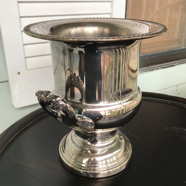 Silverplate Champagne Bucket For Sale - Image 6 of 7