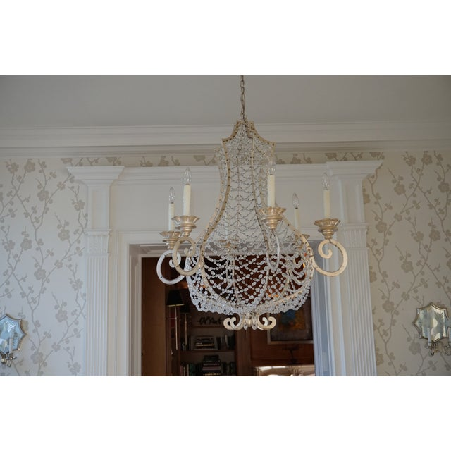 Traditional Niermann Weeks Coquille Chandelier in Venetian Silver Leaf Finish For Sale - Image 3 of 3