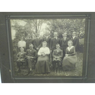 """Early 20th Century Antique """"Family Portrait"""" Black & White Photograph Preview"""