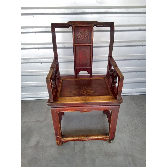 Late 19th Century Antique Chinese Officials Chair For Sale - Image 13 of 13