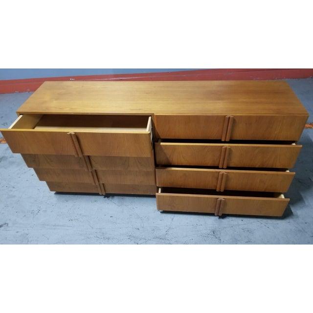 Mid Century Modern Danish 8 Drawer Credenza Dresser For Sale - Image 9 of 12