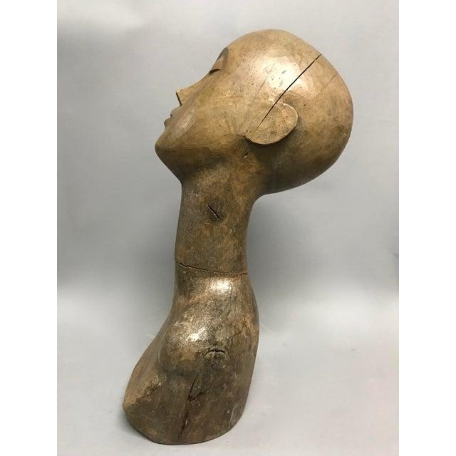 Brown Vintage Carved Wood Mannequin For Sale - Image 8 of 9