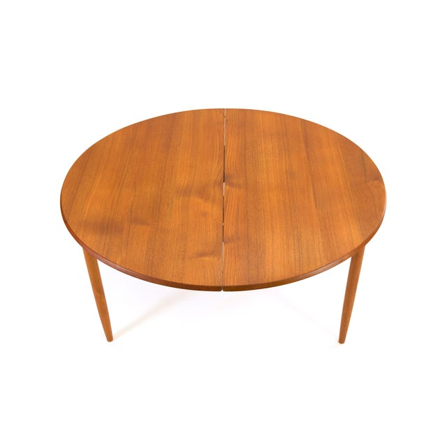 Sibast Furniture Arne Vodder Sibast - Mid- Century Solid Teak Dining Table With 2 Leaves. For Sale - Image 4 of 12