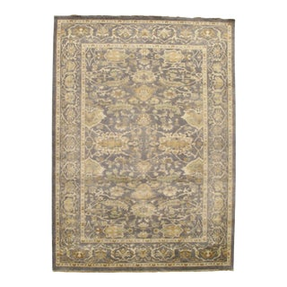Traditional Pasargad N Y Original Oushak Design Hand-Knotted Rug - 10' X 14'