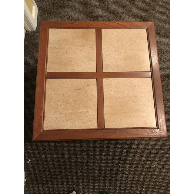 1960s Mid-Century Modern Travertine Inlay Storage Table For Sale - Image 5 of 10