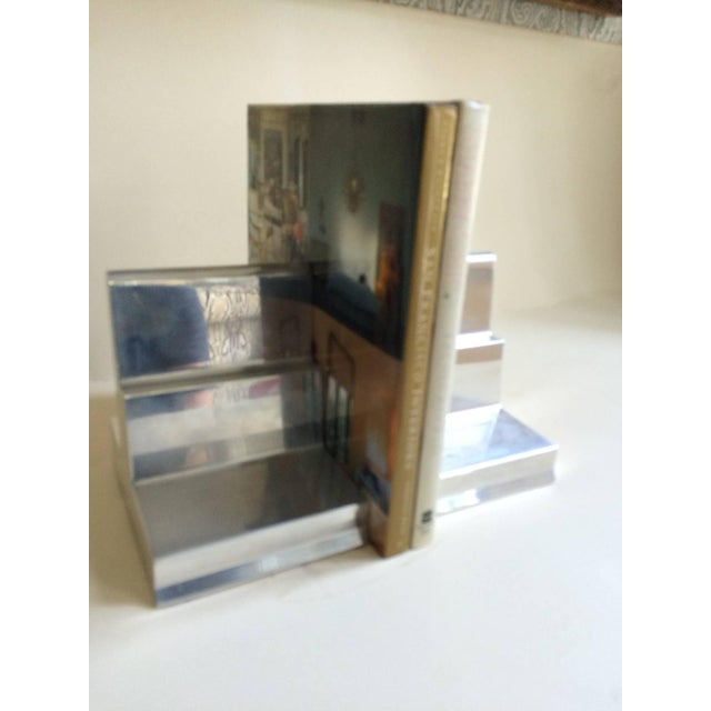 Polished Aluminium Bookends - Pair - Image 3 of 4