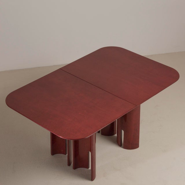 Mid-Century Modern A Saporiti Designed Extendable Dining Table, 1990s For Sale - Image 3 of 8