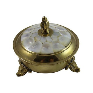 Victorian Mother of Pearl Lid Box For Sale