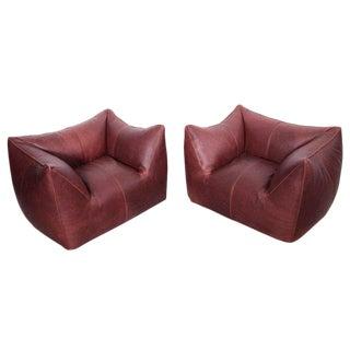 Pair of Le Bambole Lounge Armchairs B&b Italia, 1970s by Mario Bellini For Sale