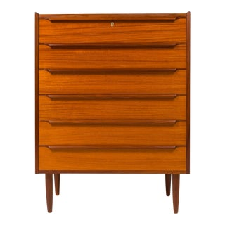 Vintage Danish Mid-Century Teak Tallboy 1960s For Sale
