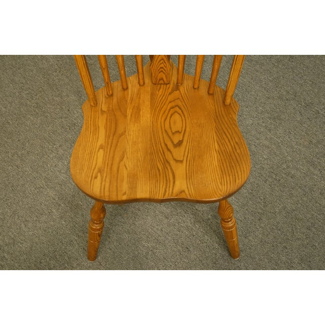 Late 20th Century Late 20th Century Vintage S. Bent Bros. Grand Rapids Solid Oak Country Style Dining Side Chair For Sale - Image 5 of 11