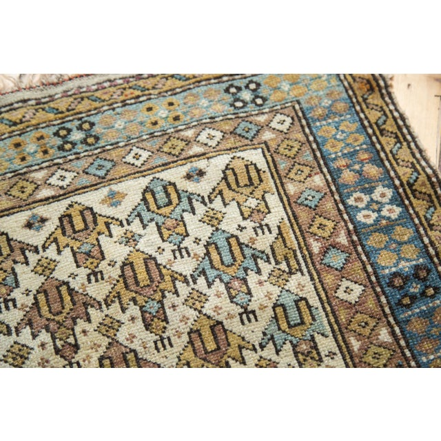 "Blue Vintage Caucasian Square Rug -1'11"" x 2'6"" For Sale - Image 8 of 8"