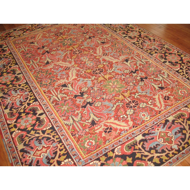 Antique Persian Heriz Rug - 8′4″ × 10′11″ - Image 6 of 11