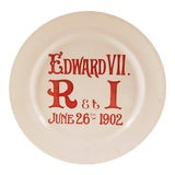 Image of 1900s Vintage Edward VII Coronation Plate For Sale
