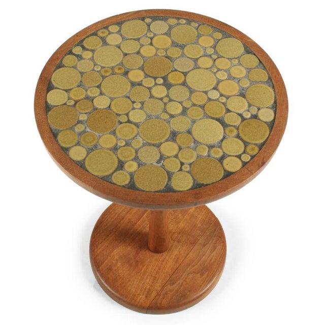 Marshall Studios Gordon Martz Ceramic Tile Top Pedestal Occasional Table For Sale - Image 4 of 6