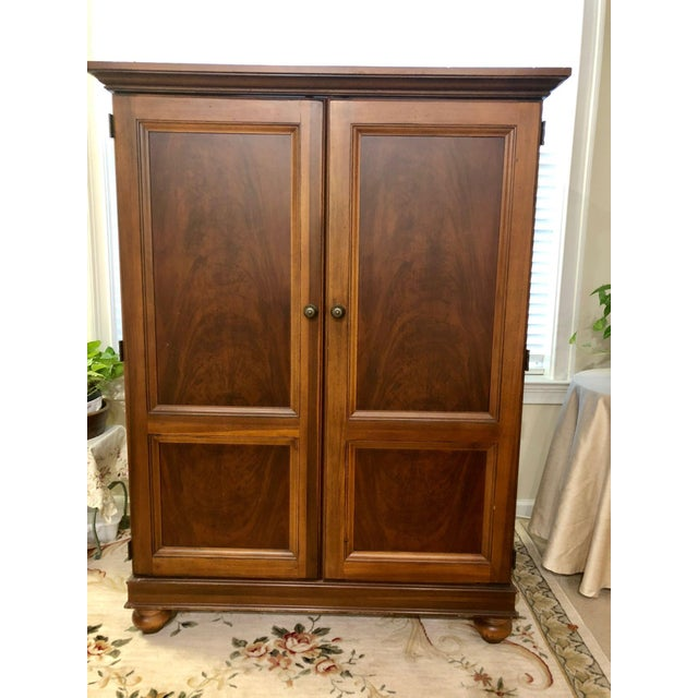 Hooker Furniture 20th Century Traditional Hooker Furniture Armoire/Media Center For Sale - Image 4 of 4
