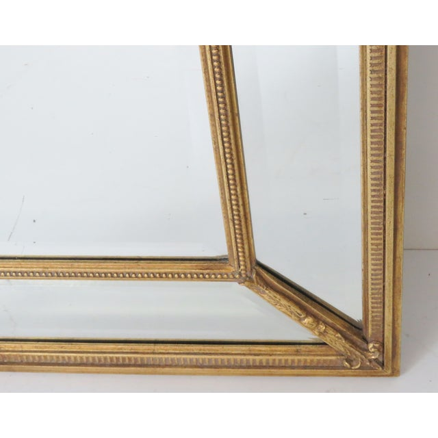 Neoclassical Style Gilt Beveled Mirrors - Pair - Image 4 of 5