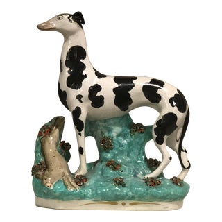 Staffordshire Diseraeli Whippet Figurine For Sale
