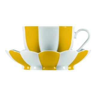 """Melon"" Mocha Cup with Saucer by Josef Hoffmann Yellow For Sale"