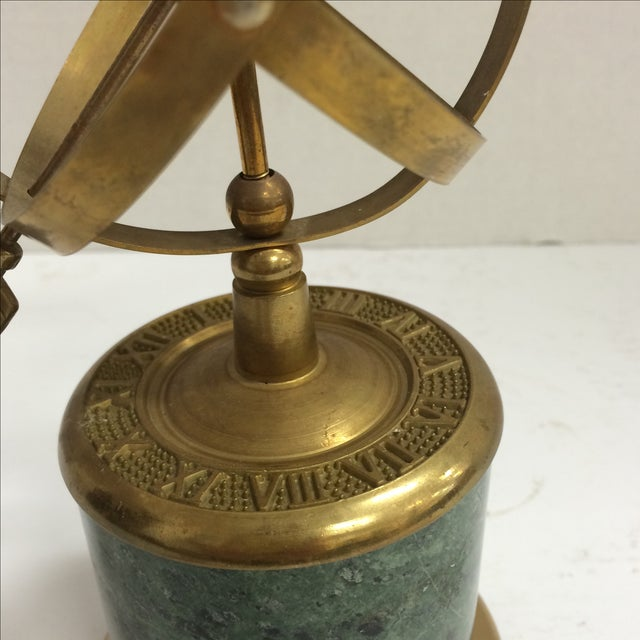 Vintage Brass and Marble Armillary - Image 4 of 10