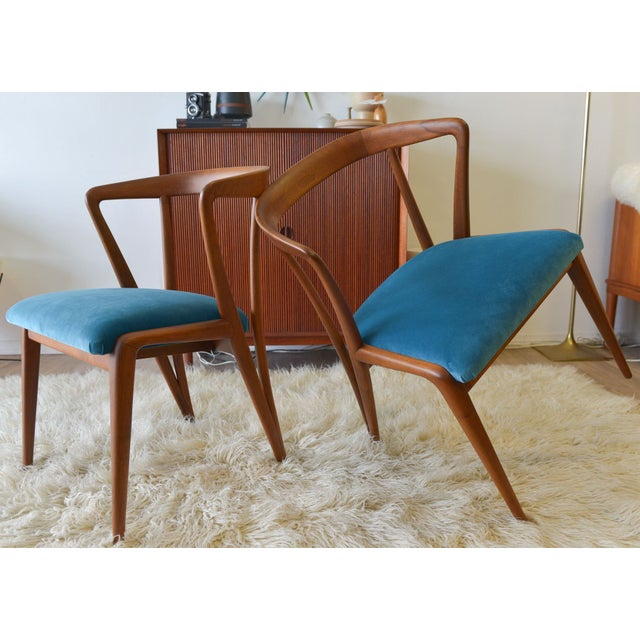Vintage Bertha Schaefer/Gio Ponti Chairs - A Pair For Sale - Image 7 of 7