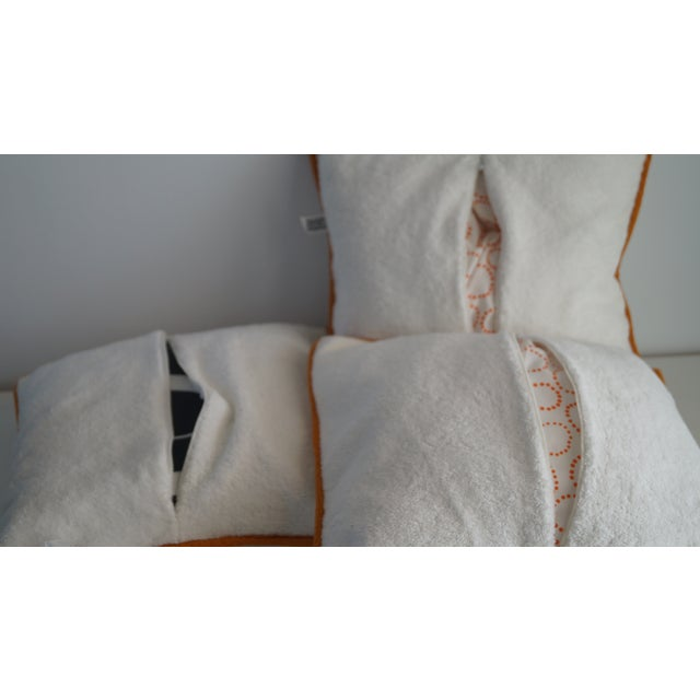 Hermes Cushion Covers With Tiger Embroidery - Set of 3 For Sale In Miami - Image 6 of 12