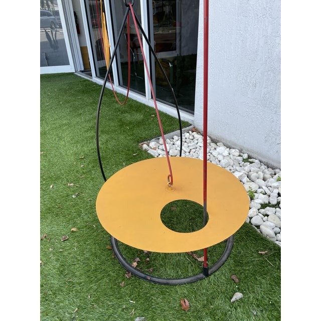 """Large 1980s colorful Italian mobile, very fun piece of design imported from Milan """"Italy."""" This mobile is from the Memphis..."""