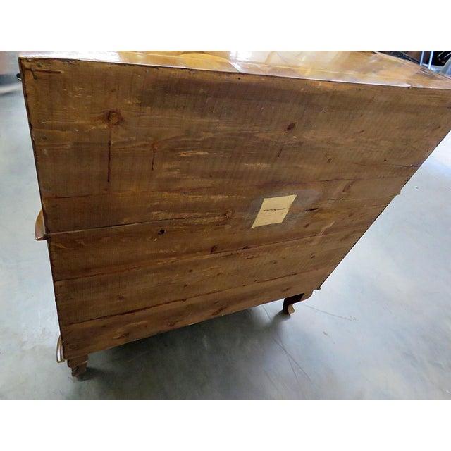 Wood Vintage Olivewood Secretary Desk For Sale - Image 7 of 11