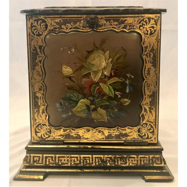 Rare Antique English Victorian Papier-Mâché Jewel Case Box, Circa 1850-1860. For Sale In New Orleans - Image 6 of 6