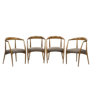 Lawrence Peabody for Richard Nemschoff Oak Dining Chairs - Set of 4 For Sale