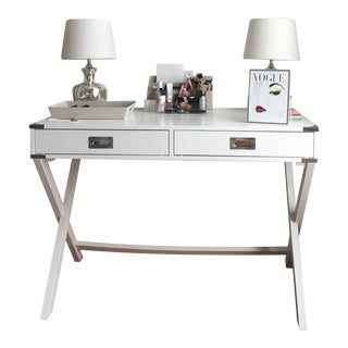 Rustic Yet Modern White Desk, French Styled Drawers