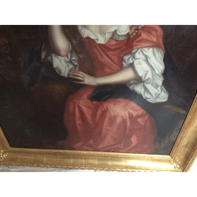 Antique Painting of a Young Woman For Sale In San Antonio - Image 6 of 11
