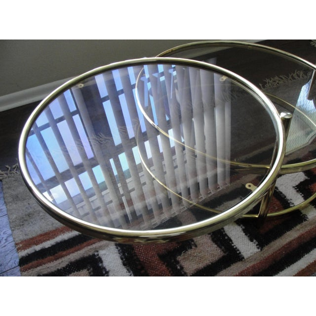 Milo Baughman Smoked Glass Swivel Table For Sale - Image 5 of 8