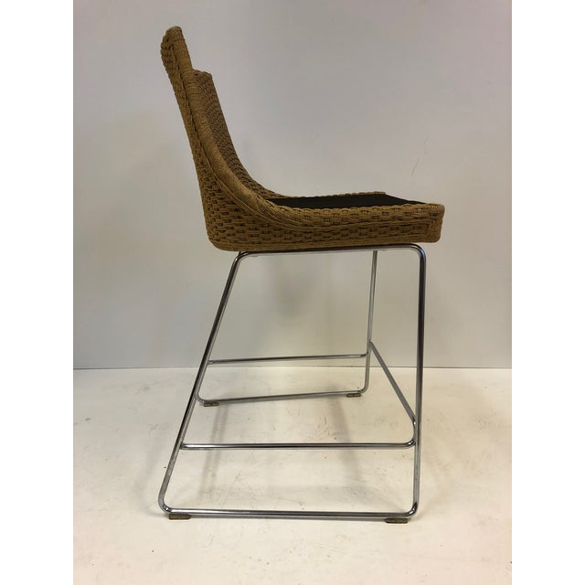 Modern Set of Three McGuire Rope Stools For Sale - Image 3 of 6