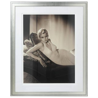 Large-Scale Iconic Photograph of Jean Harlow by George Hurrell 1932 For Sale