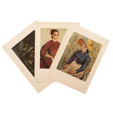 Image of 1950s Van Gogh, Set of 3 Original Lithographs For Sale