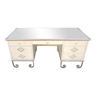 Vintage Art Deco Mirror Top Vanity Desk For Sale