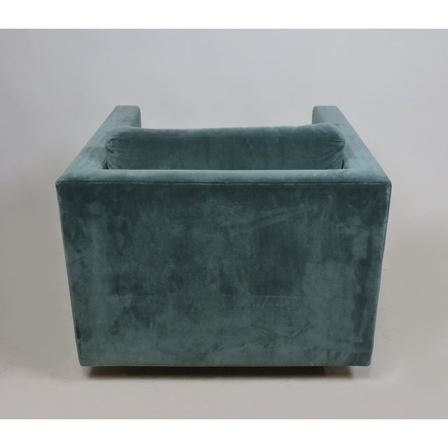 Mid-Century Modern Wormley Probber Style Cube Lounge Chair For Sale In Philadelphia - Image 6 of 12