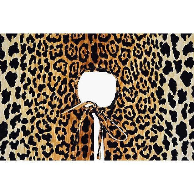 """Custom Tailored X-Large 55"""" Leopard Velvety Christmas Tree Skirt - Image 10 of 11"""