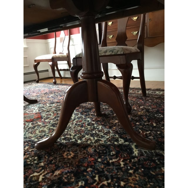 Craftique Solid Mahogany Dining Set For Sale In Boston - Image 6 of 10