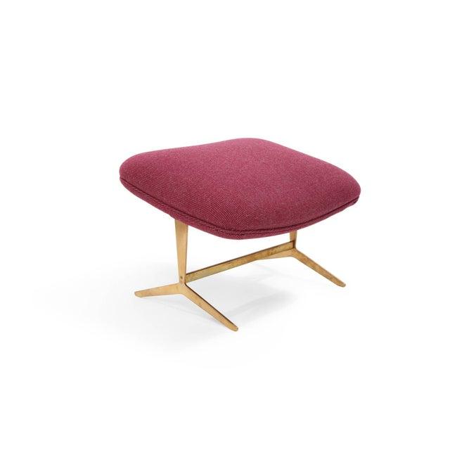 Italian Stunning Italian Lounge Chair and Ottoman For Sale - Image 3 of 8