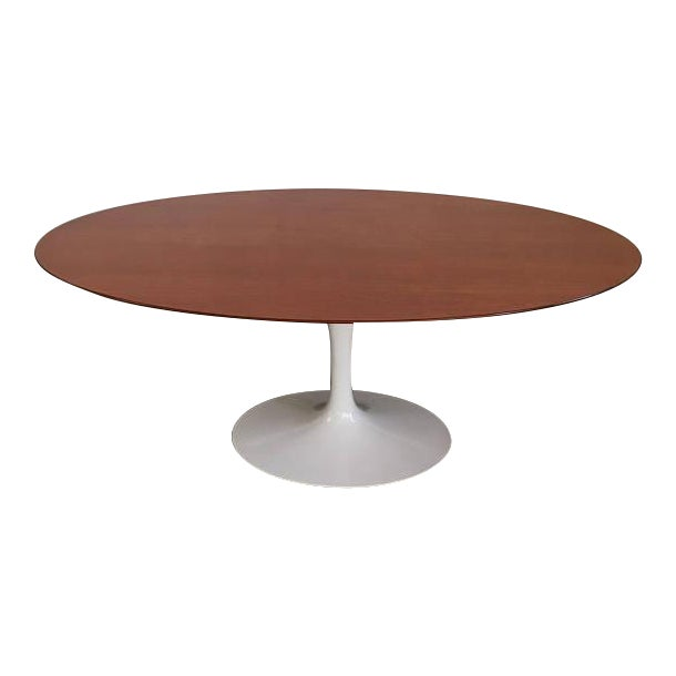 Vintage Knoll Tulip Dining Table with Teak Top - Image 1 of 7